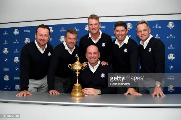 Graeme McDowell Lee Westwood Robert Karlsson Padraig Harrington and Luke Donald are announced as 2018 Ryder Cup Vice Captain's by Captain Thomas...