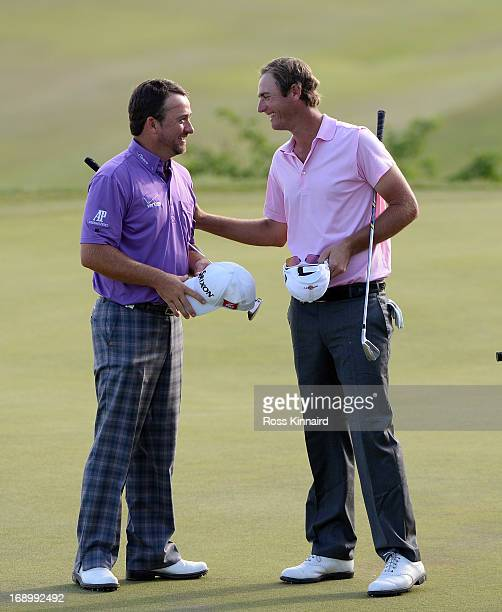 Graeme McDowell of Northern Ireland beats Nicolas Colsaerts of Belgium during the quarter final matches on day three of the Volvo World Match Play...