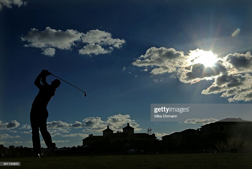 Graeme McDowell of Northern Ireland hits his tee shot on the 18th hole during the final round of the Franklin Templeton Shootout at Tiburon Golf Club on December 12, 2015 in Naples, Florida.