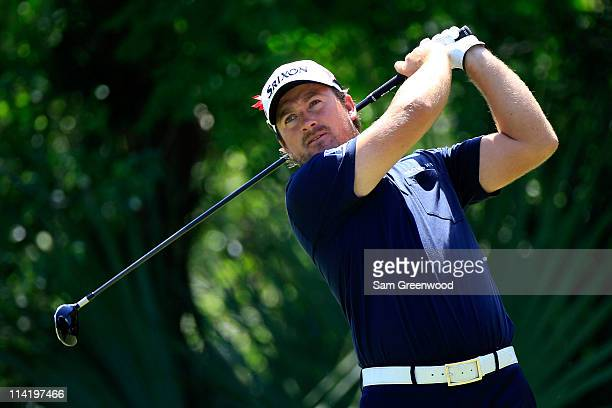 Graeme McDowell of Northern Ireland hits his tee shot on the fifth hole during the final round of THE PLAYERS Championship held at THE PLAYERS...