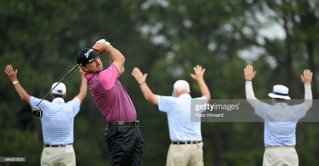 Graeme McDowell of Northern Ireland hits his tee shot on the fourth hole during the first round of the 114th U.S. Open at Pinehurst Resort & Country Club, Course No. 2 on June 12, 2014 in Pinehurst, North Carolina.