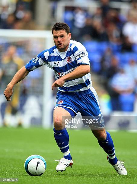 Graeme Murty of Reading during the Barclays Premier League match between Reading and Everton at the Madejski Stadium on August 18 2007 in Reading...