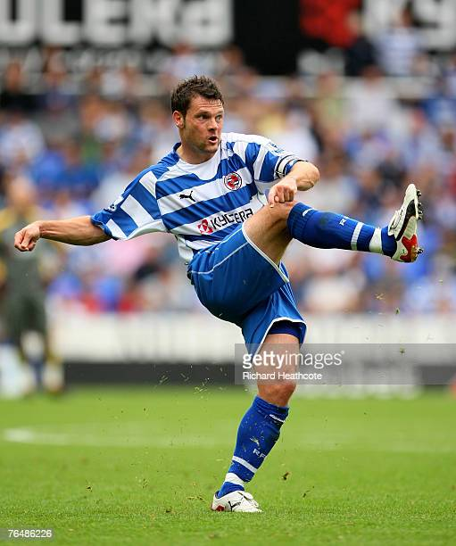 Graeme Murty of Reading in action during the Barclays Premier League match between Reading and West Ham United at the Madejski Stadium on September 1...