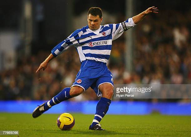 Graeme Murty of Reading in action during the Barclays Premier League match between Fulham and Reading at Craven Cottage on November 3 2007 in London...