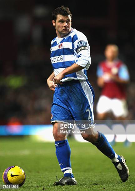 Graeme Murty of Reading in action during the Barclays Premier League match between Aston Villa and Reading at Villa Park on January 12 2008 in...