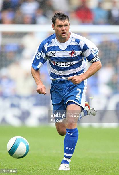 Graeme Murty of Reading in action during the Barclays Premiership match between Reading and Everton at the Madejski Stadium on August 18 2007 in...
