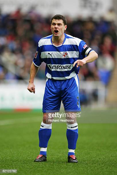 Graeme Murty of Reading in action during the FA CocaCola Championship match between Reading and Ipswich Town held at the Madejski Stadium on January...