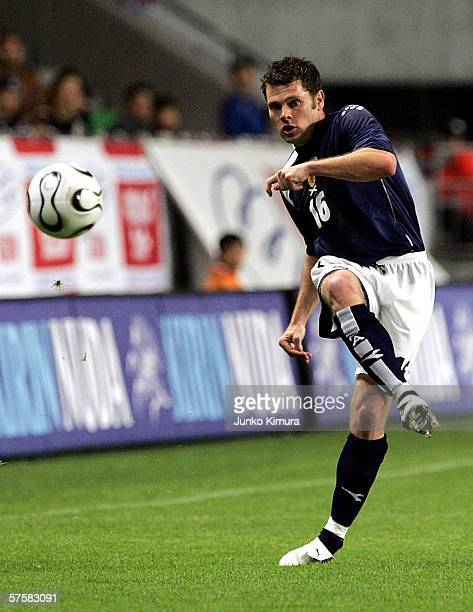 Graeme Murty of Scotland in action during the Kirin Cup Soccer 2006 match between Scotland and Bulgaria at the Kobe Wing Stadium on May 11 2006 in...