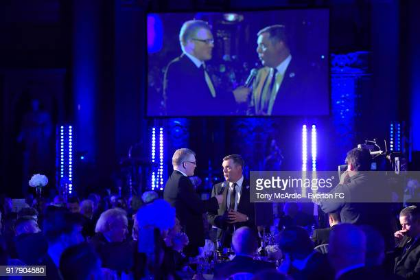 Graeme Sharp of Everton during the Everton in the Community Gala Dinner at St George's Hall on February 13 2018 in Liverpool England