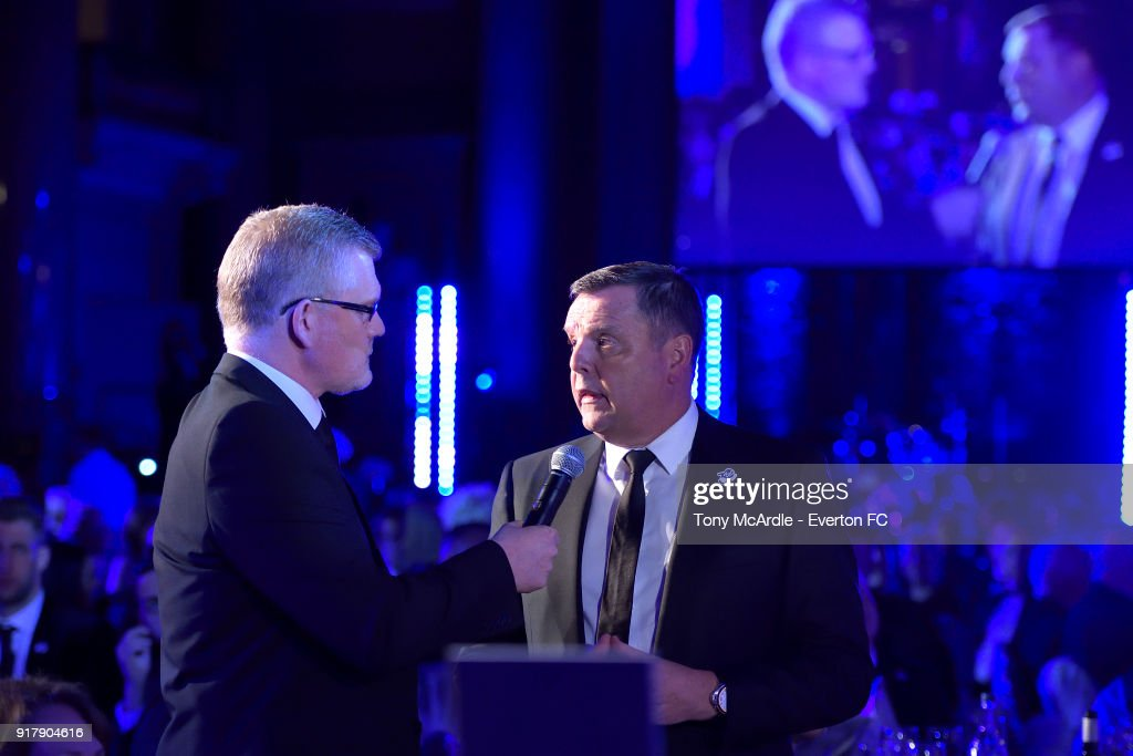 Graeme Sharp of Everton during the Everton in the Community Gala Dinner at St George's Hall on February 13, 2018 in Liverpool, England.