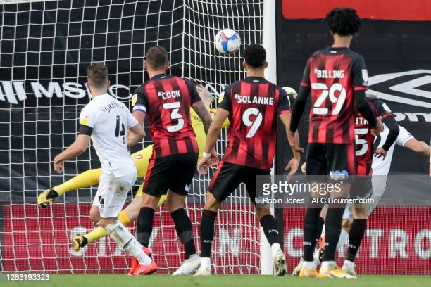 Graeme Shinnie of Derby County scores a goal to make it 10 during the Sky Bet Championship match between AFC Bournemouth and Derby County at Vitality...
