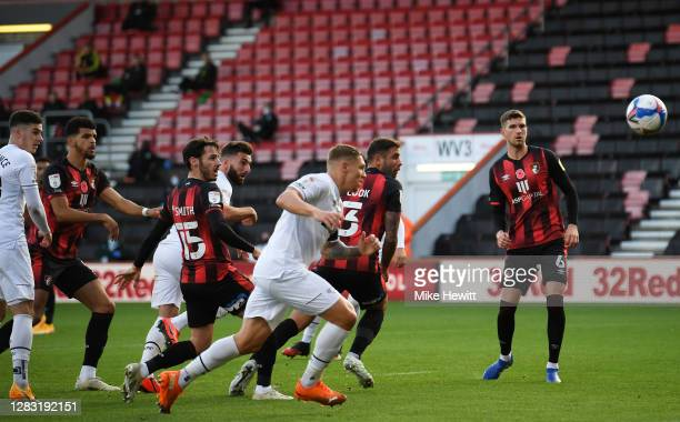 Graeme Shinnie of Derby County scores his sides first goal during the Sky Bet Championship match between AFC Bournemouth and Derby County at Vitality...