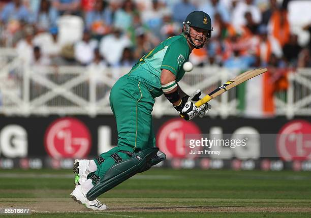 Graeme Smith of South Africa hits out during the ICC World Twenty20 Super Eights match between South Africa and India at Trent Bridge on June 16 2009...