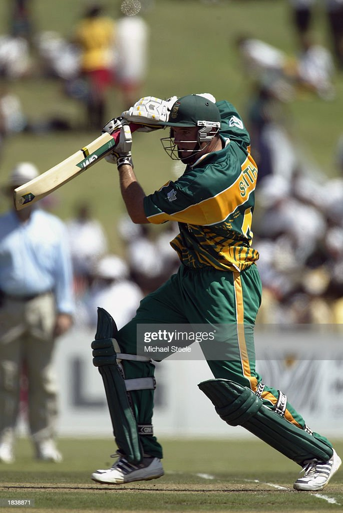 Graeme Smith of South Africa in action during the ICC Cricket World Cup Pool B match between South Africa and Canada held on February 27, 2003 at Buffalo Park in East London, South Africa. South Africa won the match by 118 runs.