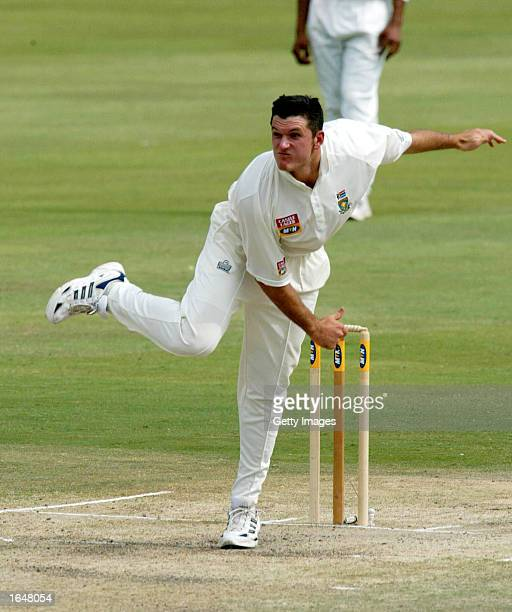 Graeme Smith of South Africa in action on the fourth day of the second test match between South Africa and Sri Lanka played at Supersport Park...