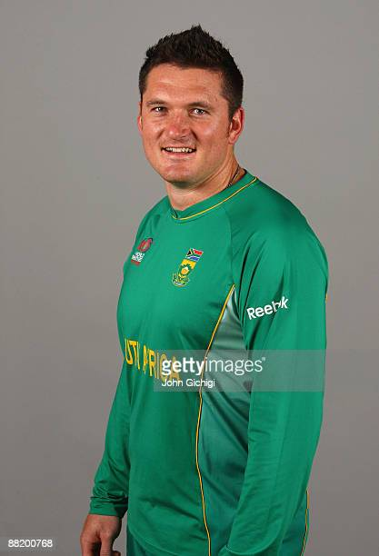 Graeme Smith of South Africa poses for a portrait prior to the ICC World Twenty20 at Royal Garden on June 4 2009 in London England