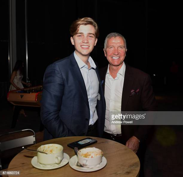 Graeme Souness and his son during the after party Kenny film premiere at the Titanic Hotel Liverpool November 15 2017 in Liverpool England