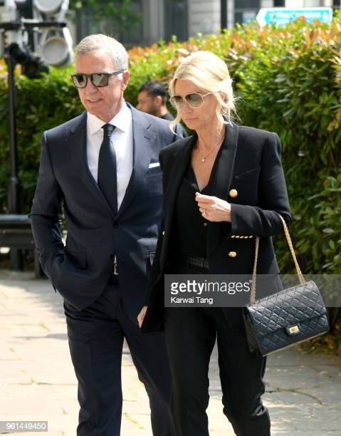 Graeme Souness and wife Karen attend the funeral of Dale Winton at the Old Church 1 Marylebone Road on May 22 2018 in London England