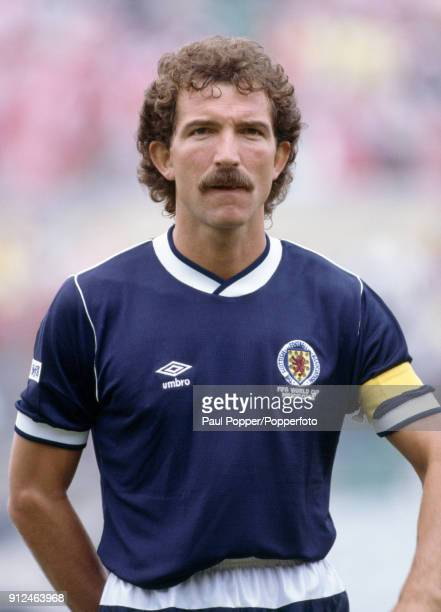 Graeme Souness lines up for Scotland before the FIFA World Cup match between Scotland and Denmark at the Estadio Neza in Nezahualcoyotl 4th June 1986...