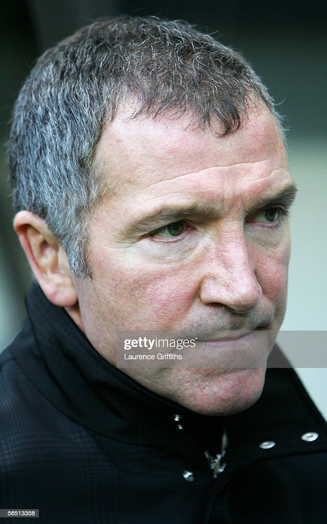 Graeme Souness manager of Newcastle United looks on during the Barclays Premiership match between Newcastle United and Middlesbrough on January 2, 2006 at St James Park in Newcastle, England.