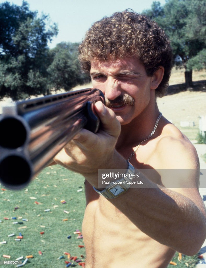 Graeme Souness of Liverpool has New Zealand in his sights as he prepares for Scotland's FIFA World Cup match against the Kiwis in Malaga, 14th June 1982.