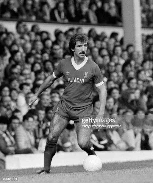 27th September 1980 Anfield Liverpool Liverpool 4 v Brighton Hove Albion 1 Liverpool's Graeme Souness on the ball