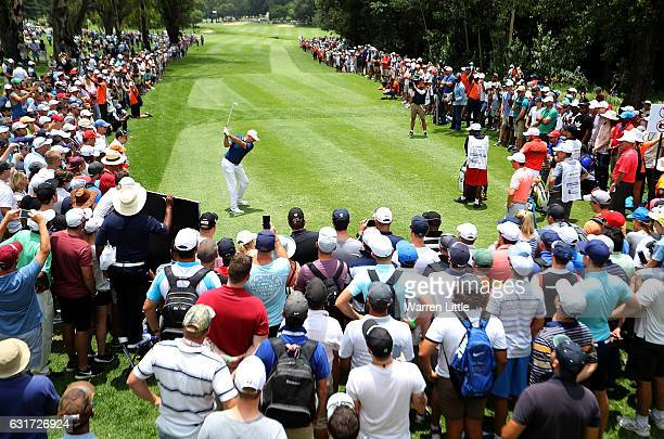 Graeme Storm of England hits his tee shot on the 12th hole during day four of the BMW South African Open Championship at Glendower Golf Club on...