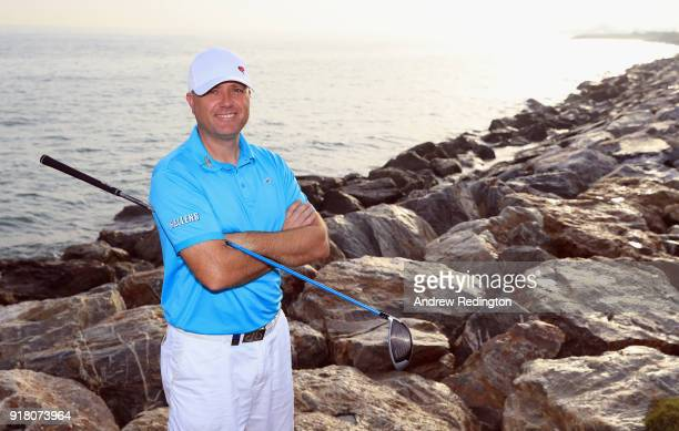 Graeme Storm of England poses for a portrait during the Pro Am prior to the start of the NBO Oman Open at Al Mouj Golf on February 14 2018 in Muscat...