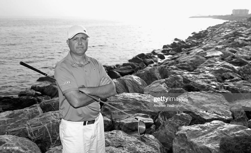 Graeme Storm of England poses for a portrait during the Pro Am prior to the start of the NBO Oman Open at Al Mouj Golf on February 14, 2018 in Muscat, Oman.