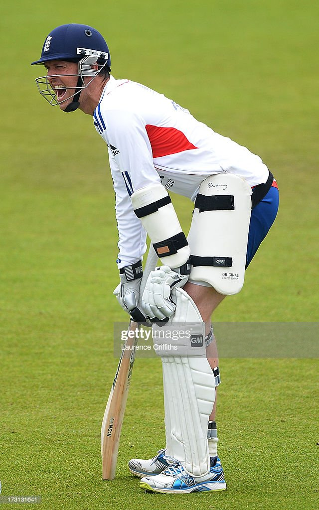 Graeme Swann of England is all smiles during net practice at Trent Bridge on July 8, 2013 in Nottingham, England.