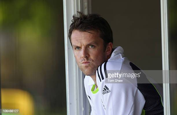 Graeme Swann of England looks on during an England nets session at Richardson Park on November 3 2010 in Perth Australia