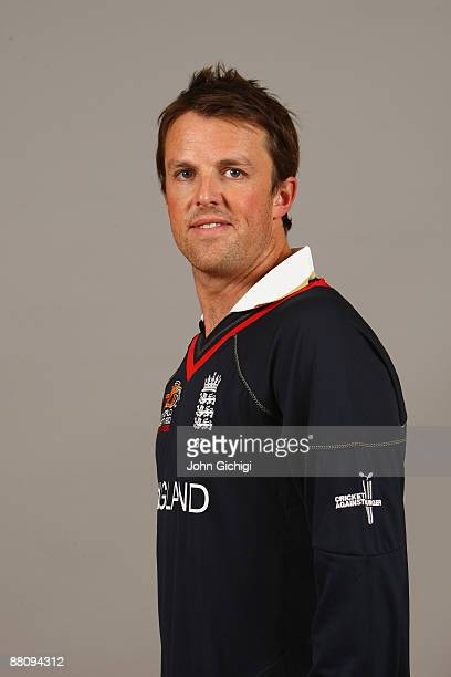 Graeme Swann of England poses for a portrait prior to the ICC World Twenty20 at at the Hart Hotel on June 1 2009 in Nottingham England