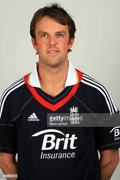Graeme Swann of England poses for the team portraits at the ECB Centre at University on October 28 2009 in LoughbroughEngland
