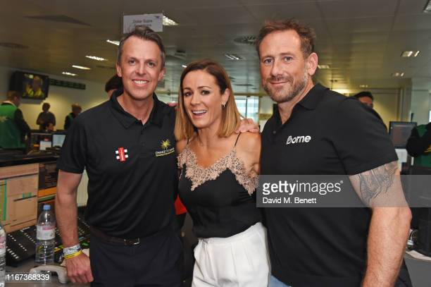 Graeme Swann representing Chance To Shine Natalie Pinkham and Jason Fox attend BGC Charity Day at One Churchill Place on September 11 2019 in London...