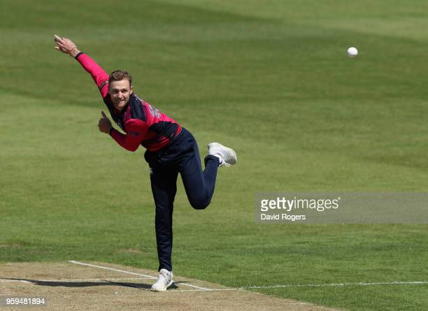 Graeme White of Northamptonshrie bowls during the Royal London OneDay Cup match between Northamptonshire and Leicestershire at The County Ground on...