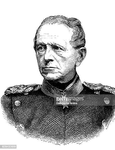Graf helmut von moltke 1800 1891 prussian field marshal historical woodcut circa 1880