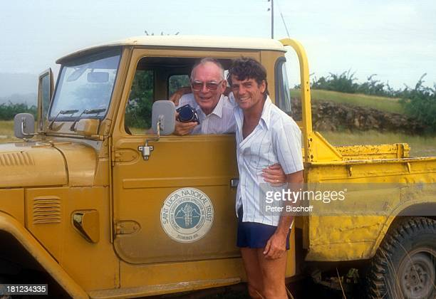 Graf Lennart Bernadotte Robert Devaux Gründung einer Schwesternschaft mit Nationalpark 'Pigeon Island' auf StLucia/Karibik Jeep Shorts Adel adelig...