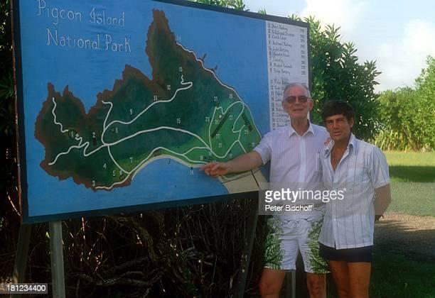 Graf Lennart Bernadotte Robert Devaux Gründung einer Schwesternschaft mit Nationalpark 'Pigeon Island' auf StLucia/Karibik †bersichtskarte des Parks...