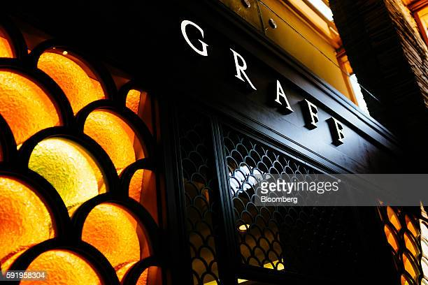 A Graff logo sits on display at the Delaire Graff restaurant at the Delaire Graff Estate in Stellenbosch South Africa on Thursday Aug 18 2016...