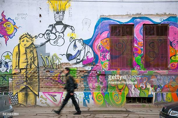 Graffiti along Vasile Alecsandri street, Timisoara, Romania
