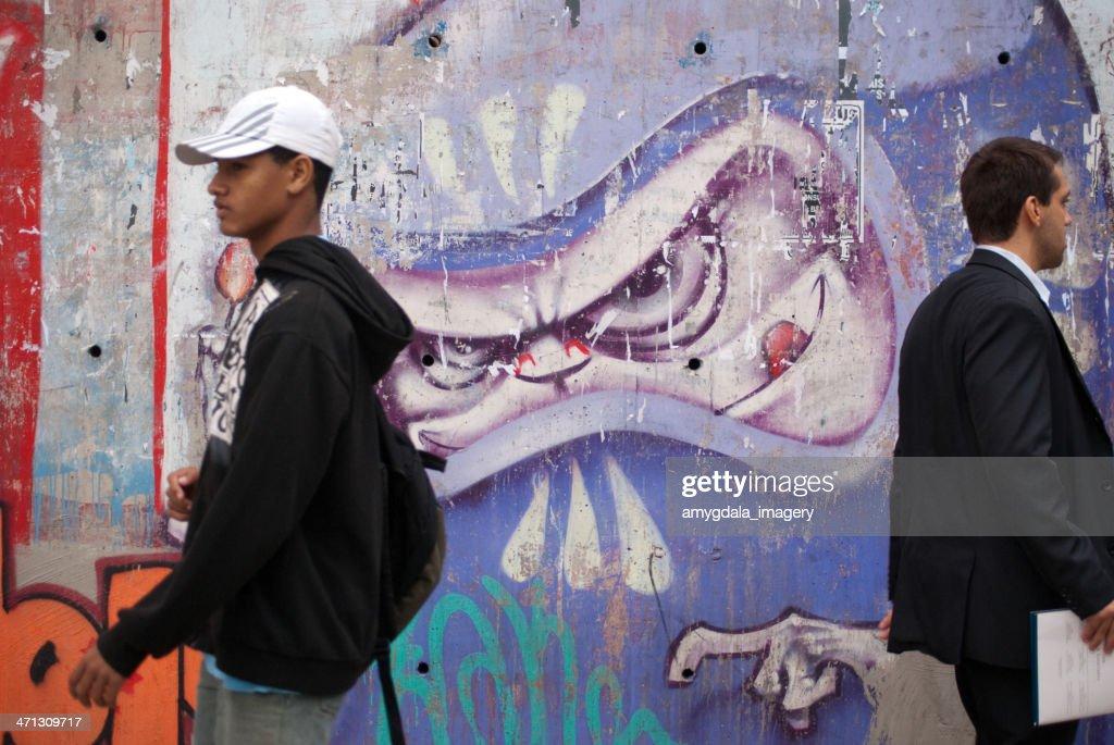 graffiti and men : Stock Photo