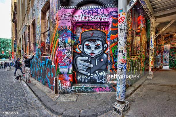 Graffiti art in Hosier Lane Melbourne Victoria Australia