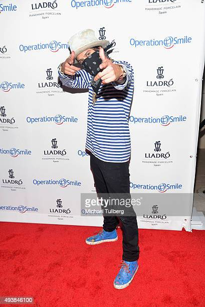Graffiti artist Alex Monopoly attends the New Beginnings Event by Operation Smile and Lladro in support of surgery for children with clefts at Lladro...