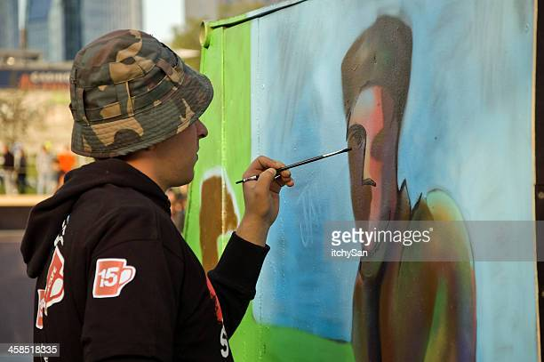 graffiti artist - street artist stock pictures, royalty-free photos & images