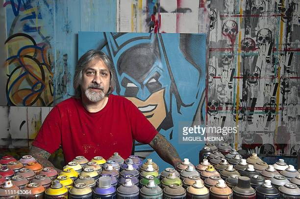 US graffiti artist Richard Mirando aka Seen UA often referred to as the The Godfather of graffitti poses on March 30 2011 in Paris AFP PHOTO MIGUEL...
