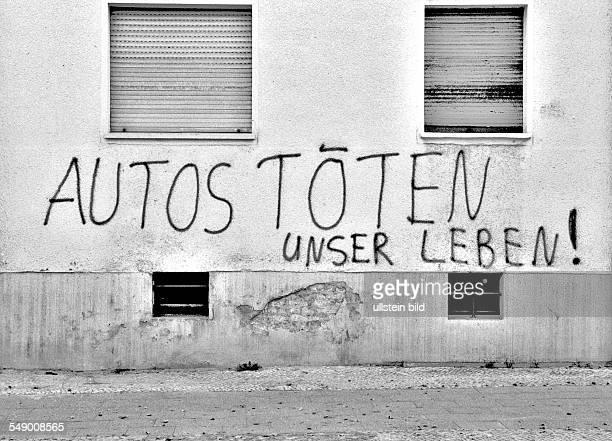 Graffiti Autos töten unser Leben