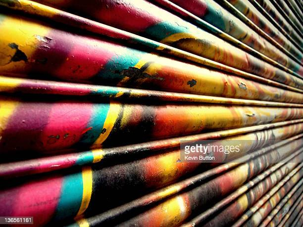 Graffiti covered shutter