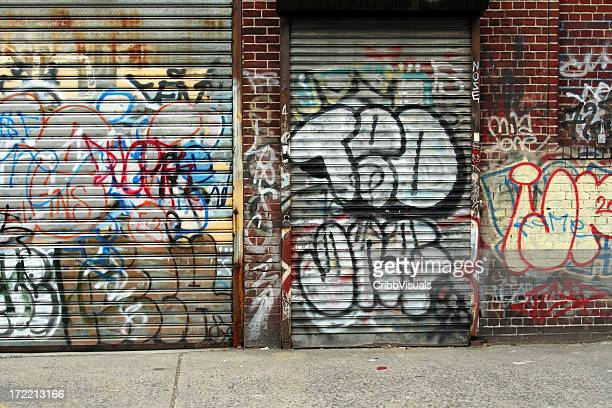 Mur de Graffiti et volet fond de New York City