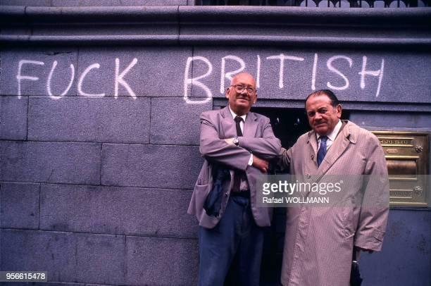 Graffiti Fuck British dans la rue en Argentine circa 1980