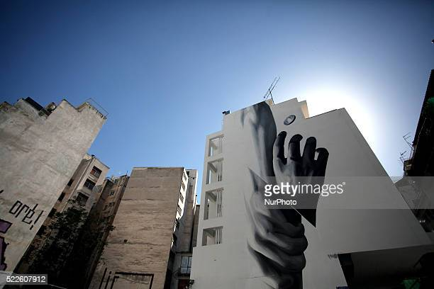 Graffiti in Athens city center April 15 2016